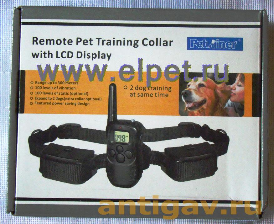 Axsel Fox PT-100 (батарейки) на 2 собаки с ЖК-дисплеем