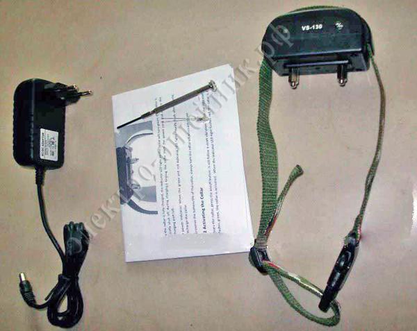 Аккумуляторный ошейник антилай VS-130 20 уровней шока, вибрация и звук